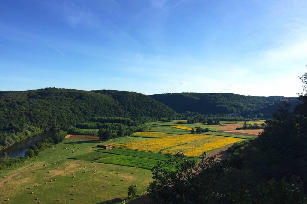 Paisaje de la región de Dordoña, en Francia.